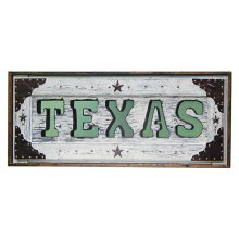 White Texas Letter Mirror