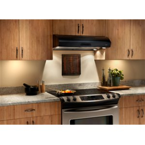 "Broan 350 CFM 30"" wide Undercabinet Range Hood in Black"