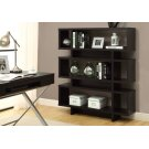 """BOOKCASE - 55""""H / CAPPUCCINO MODERN STYLE Product Image"""