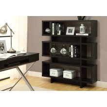 "BOOKCASE - 55""H / CAPPUCCINO MODERN STYLE"