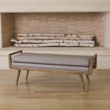 Lucas Long Bench-Muslin
