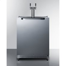 Outdoor/indoor Commercial Beer Dispenser for Built-in or Freestanding Use, With Complete Dual Tap Kit, Digital Thermostat, and 304 Grade Stainless Steel Exterior