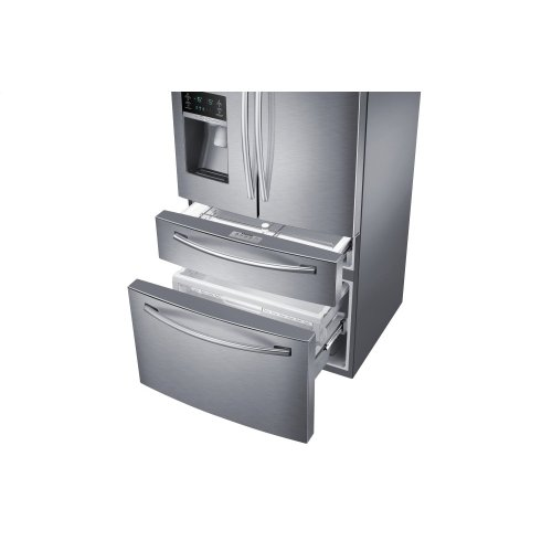 RF28HMEDBSR French Door Refrigerator with Twin Cooling Plus, 28.15 cu.ft (This is a Stock Photo, actual unit (s) appearance may contain cosmetic blemishes. Please call store if you would like actual pictures). This unit carries our 6 month warranty, MANUFACTURER WARRANTY and REBATE NOT VALID with this item. ISI 32677