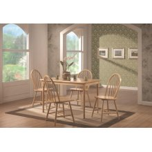 Damen Country Natural Rectangular Dining Table