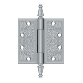 "4 1/2""x 4 1/2"" Square Hinges - Brushed Chrome"