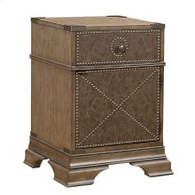 Bonded Leather Accent Nightstand