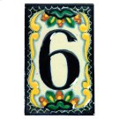 House Address Number 6 in Zinnia Product Image