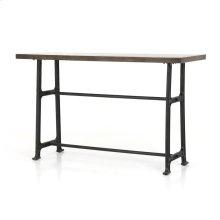 Bar Size English Brown Oak Finish Alistair Bar + Counter Table