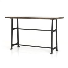 Bar Table Size English Brown Oak Finish Alistair Bar + Counter Table