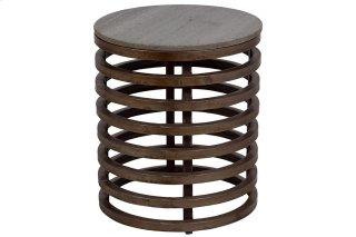 Guggenheim Metal & Marble Side Table