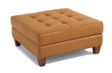 Nash Leather Square Cocktail Ottoman