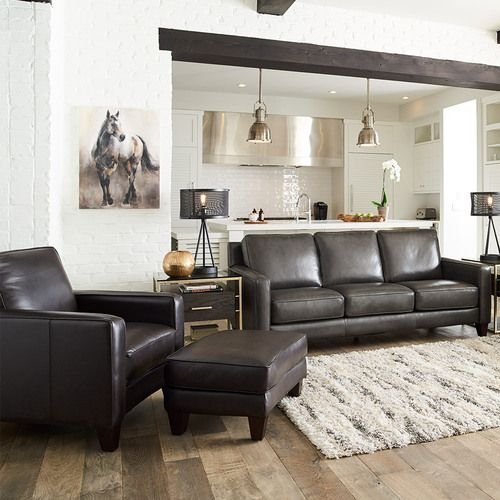 Archer Signature Leather Sofa