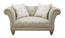 Loveseat Nailhead W- 2 Pillows Body Fv0014-7 Pillows Tolouse Platinum
