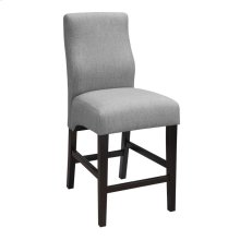 Transitional Grey Upholstered Counter-height Stool