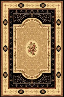 New Vision French Aubusson Black