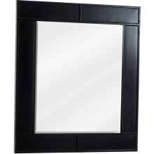 "26"" x 30"" Beveled glass mirror with Espresso finish."