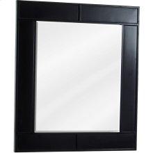 "26"" x 30"" Beveled glass mirror with Espresso finish."