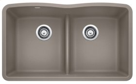 Blanco Diamond Equal Double Bowl With Low-divide - Truffle