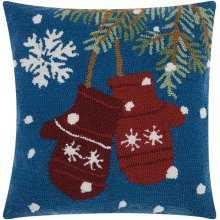 """Home for the Holiday Yx029 Multicolor 18"""" X 18"""" Throw Pillows"""