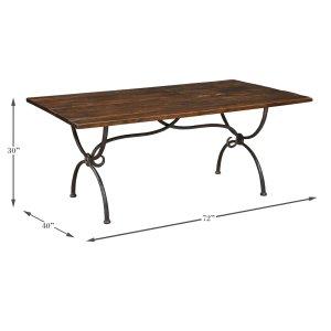 Sarreid LtdRanch Dining Table, Natural Ant. Finish