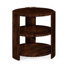Art Deco Style Three-Tier Faux Macassar Side Table