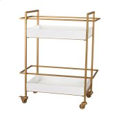 Gold and White Bar Cart