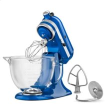 Artisan® Design Series 5 Quart Tilt-Head Stand Mixer with Glass Bowl - Electric Blue