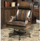 DC#105 Black Brown Wipe Leather Desk Chair Product Image