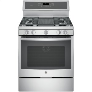 "GE ProfileSeries 30"" Free-Standing Gas Convection Range"