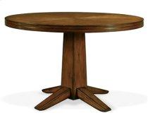 "48"" Veneer Table & Pedestal Base Antique Cherry Product Image"