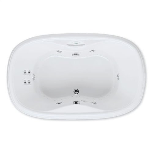 "Easy-Clean High Gloss Acrylic Surface, Oval, AirMasseur® - Whirlpool Bathtub, Standard Package, 42"" X 68"""