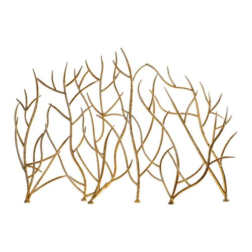 Gold Branches, Decorative Fireplace