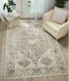 Fusion Fss11 Cream Grey Rectangle Rug 5'3'' X 7'3''