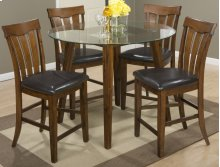 """Plantation 48"""" Round Glass Top Counter Height Table"""