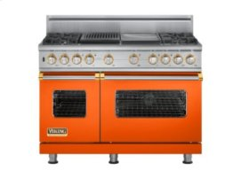 "48"" Custom Sealed Burner Dual Fuel Range, Natural Gas, Brass Accent"