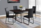 """DINING TABLE - 36""""X 60"""" / CAPPUCCINO / BLACK METAL Product Image"""