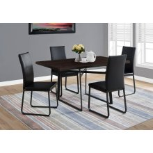 """DINING TABLE - 36""""X 60"""" / CAPPUCCINO / BLACK METAL"""