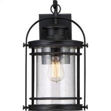 Booker Outdoor Lantern in Mystic Black