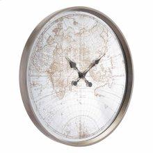 Hora Clock Antique Silver