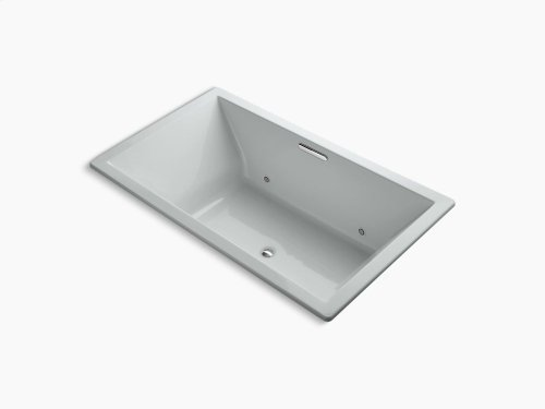 """Ice Grey 72"""" X 42"""" Drop-in Vibracoustic Bath With Chromatherapy and Center Drain"""