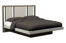 American Modern Wood & Upholstered Queen Platform Bed