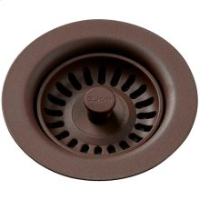 Elkay Polymer Drain Fitting with Removable Basket Strainer and Rubber Stopper Pecan