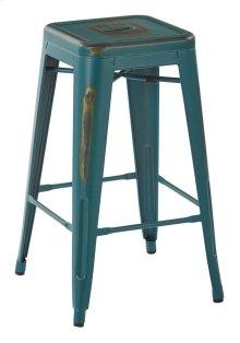 "Bristow 26"" Antique Metal Barstool, Antique Tourquoise, 4 Pack"