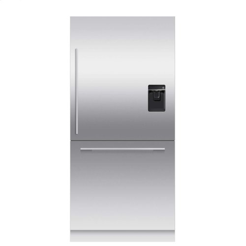 "Integrated Refrigerator Freezer, 36"", 16.8cu ft, Panel Ready, Ice & Water"