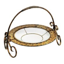 Saddlebrook Glass Plate with Stand