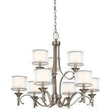 Lacey Collection Lacey 9 Light Chandelier - Antique Pewter