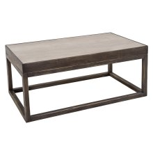 Cocktail Table W/Inset Travertine Top