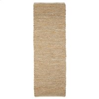 Jute & Natural Leather 2'x6' Rug (Each One Will Vary). Product Image