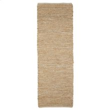 Jute & Natural Leather 2'x6' Rug (Each One Will Vary).