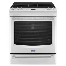 (DISCONTINUED FLOOR MODEL 1 ONLY) White Ice Maytag® 5.8 cu. ft. Front Control Gas Range with the FIT System